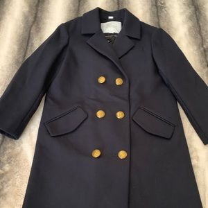 { Burberry } Christine Wool Peacoat Coat Jacket